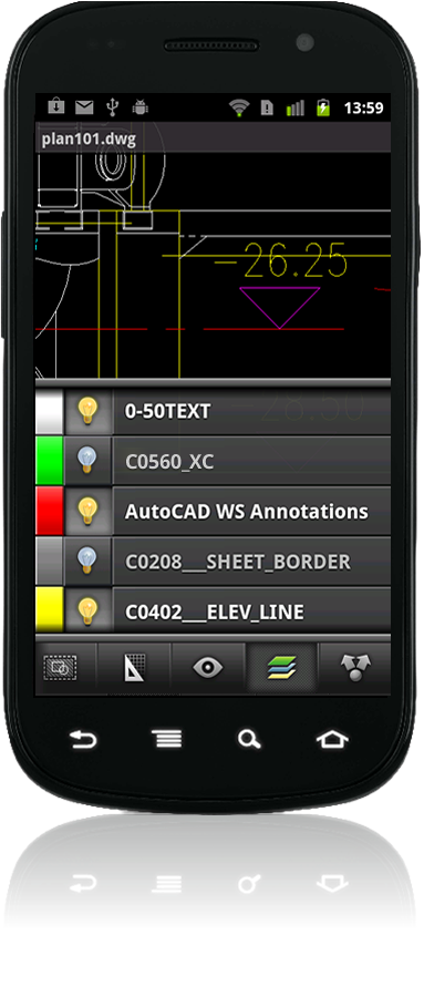 Autocadws_layers_android
