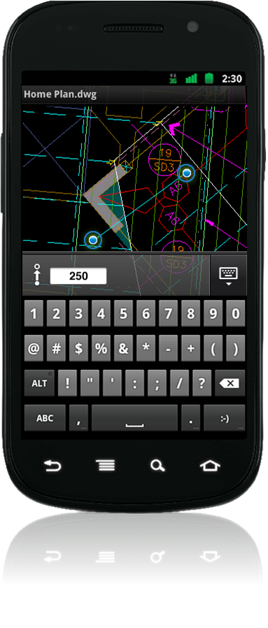 Autocadws_numericentry_android